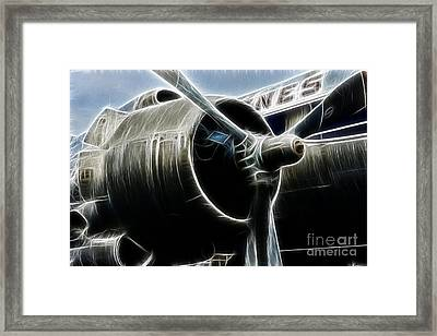 Plane Fantasy Plane Gray  Framed Print
