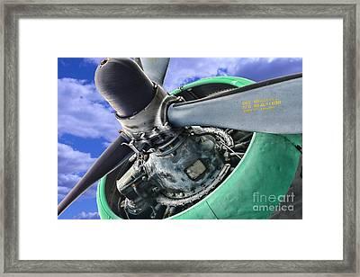 Plane Green Prop Framed Print by Paul Ward