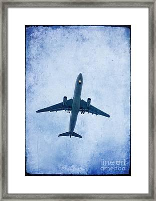 Plane In The Air  Framed Print by Mohamed Elkhamisy