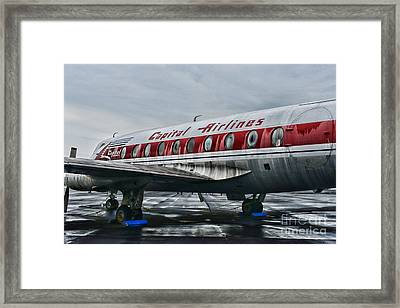 Plane Obsolete Capital Airlines Framed Print