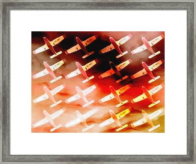 Plane Sky High Framed Print