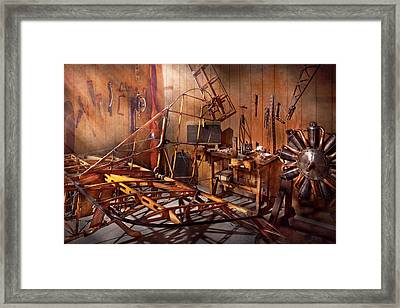 Plane - The Dawn Of Aviation Framed Print by Mike Savad