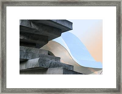 Planes And Curves Framed Print by Terri Harper