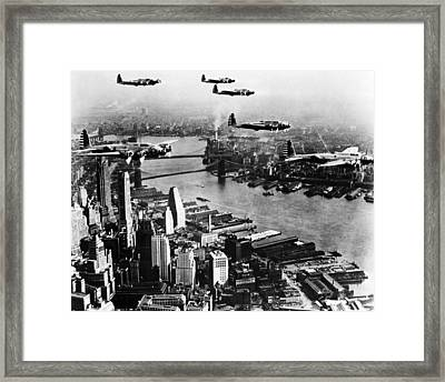 Planes Over The City Framed Print by Retro Images Archive