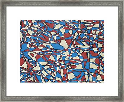 Planet Abstract Framed Print by Jonathon Hansen