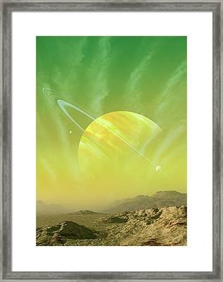 Planet Around Upsilon Andromedae Framed Print by Mark Garlick