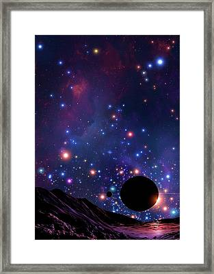 Planet At The Centre Of The Milky Way Framed Print