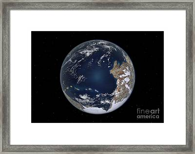 Planet Earth 600 Million Years Ago Framed Print