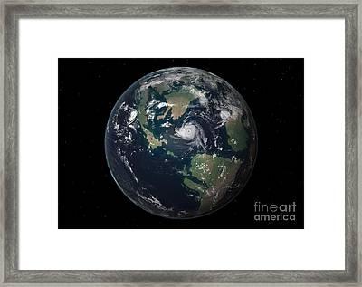 Planet Earth 90 Million Years Ago Framed Print