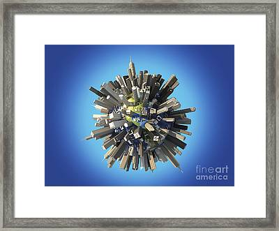 Planet Earth Covered By Huge Framed Print