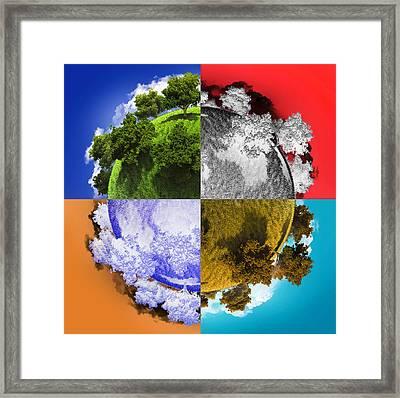 Planet Earth Framed Print by Vitaliy Gladkiy