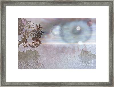 Framed Print featuring the digital art Planet Eye by Kim Prowse