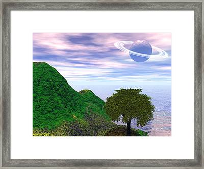 Planet Fall Framed Print