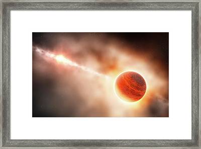 Planet Formation Around A Star Framed Print by Eso/l. Calcada