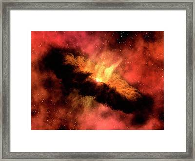 Planet-forming Disk Around A Star Framed Print by Ngc 1333-iras 4b