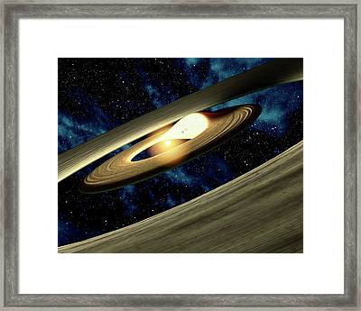 Planet Forming Disk Distortion Framed Print by Nasa/jpl-caltech