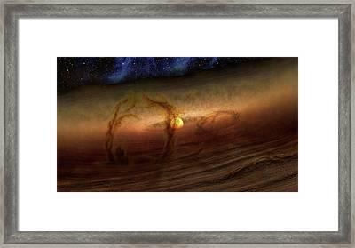 Planet-forming Region Framed Print by Nasa/jpl-caltech