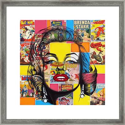 Planet Marilyn Framed Print