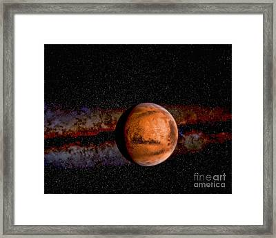 Planet - Mars - The Red Planet Framed Print by Paul Ward