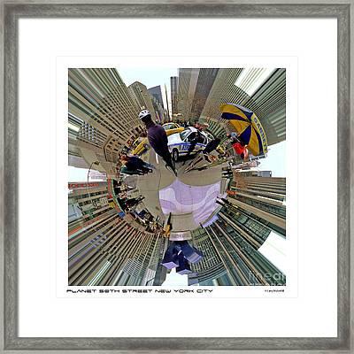 Planet New York City Framed Print