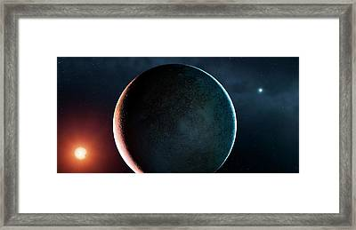 Planet Of A Double Star Framed Print by Mark Garlick