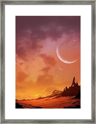 Planet Of Hd113538 Framed Print by Mark Garlick