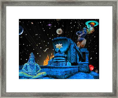 Planet Of Shiva  Framed Print by Jason Saunders