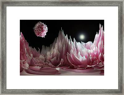 Planet Peony  Framed Print