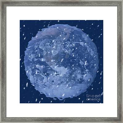 Planet Winter Framed Print by Linda Matlow
