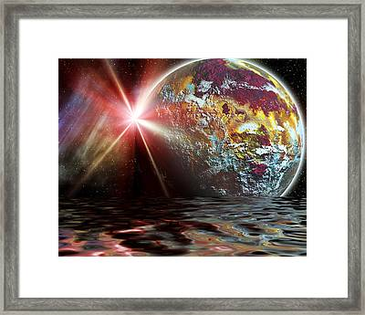 Planet Zorcon Framed Print by Camille Lopez