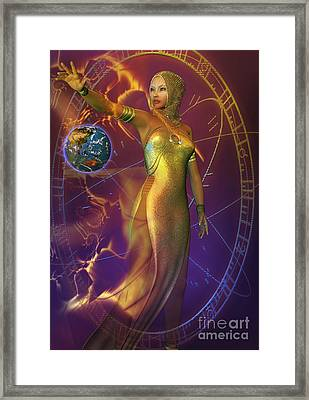 Planetary Energy Framed Print by Shadowlea Is