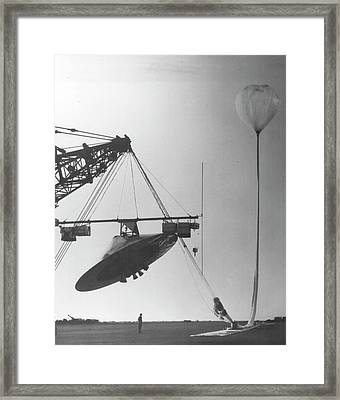 Planetary Entry Parachute Program Launch Framed Print by Us Air Force