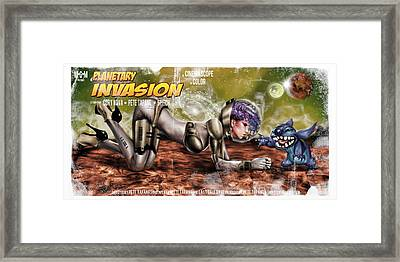 Planetary Invasion Framed Print by Pete Tapang