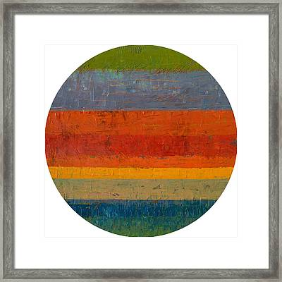 Planetary Seven Framed Print by Michelle Calkins