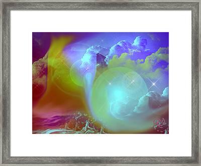 Planetary Storm Framed Print by Ute Posegga-Rudel