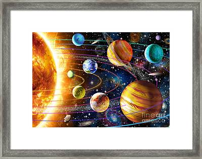Planetary System Framed Print by Adrian Chesterman