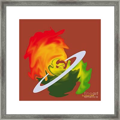 Planete En Formation Framed Print