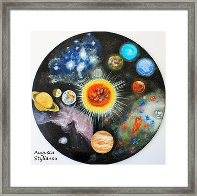 Planets And Nebulae In A Day Framed Print by Augusta Stylianou