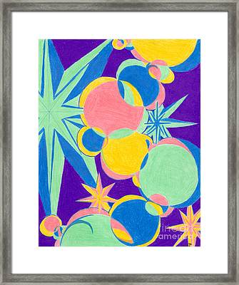 Planets And Stars Framed Print