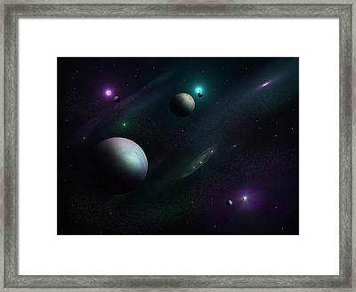 Planets Beyond Our Solar System Framed Print by Ricky Haug