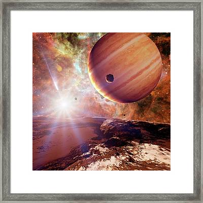 Planets In Ngc 2440 Planetary Nebula Framed Print