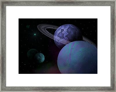 Planets Vs. Dwarf Planets Framed Print by Ricky Haug