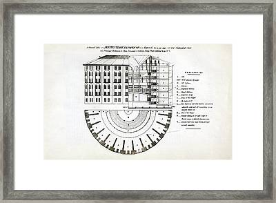 Plans For A Panopticon Prison Framed Print by British Library