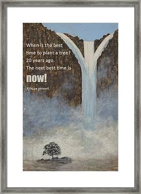 Plant A Tree Framed Print
