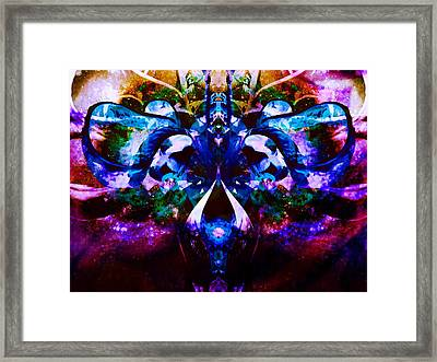 Plant Abstract Framed Print by Dawn  Van Doorn
