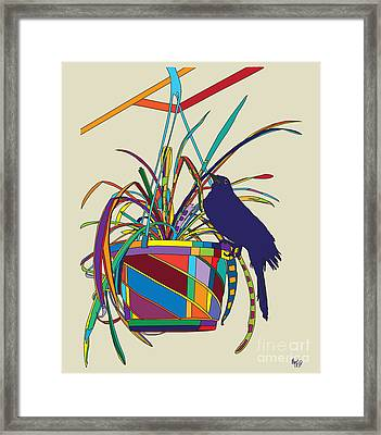 Plant Bird Pop Framed Print by Megan Dirsa-DuBois