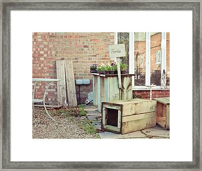 Plant Sale Framed Print by Tom Gowanlock