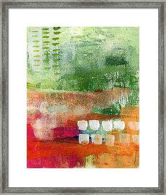 Plantation- Abstract Art Framed Print by Linda Woods