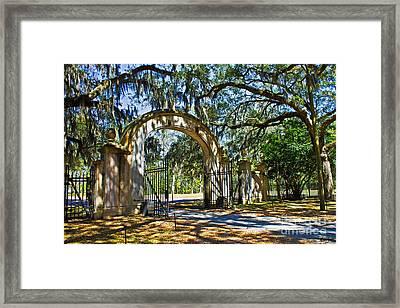Plantation Gate Framed Print