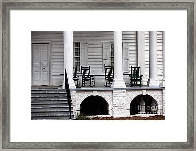 Plantation Porch Framed Print by John Rizzuto